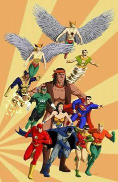 Superfriends/Justice League of America Dc Comics Superheroes, Dc Comics Characters, Dc Comics Art, Marvel Dc Comics, Classic Cartoon Characters, Classic Cartoons, Desenhos Hanna Barbera, Detective Comics, Comic Books Art