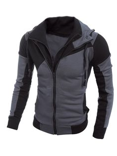 men zipper hoodie Picture - More Detailed Picture about Hot sales 2017 Fashion Brand Men's Sweatshirts Hoodies Men zipper Hoodies Patchwork Slim Men's Sportswear Active Men Coat Picture in Hoodies & Sweatshirts from REAN YIA SZHI REAN YIA SZHI Store Sweatshirt Homme, Hoodie Sweatshirts, Hoody, Pantalon Long, Sports Hoodies, Gq Style, Trendy Style, Style Men, Steampunk Outfits