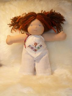 Waldorf Doll Clothes Upcycled Linen Top
