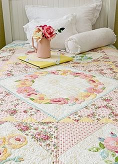 Quilting website for romantic style quilts. thevintagespool.com