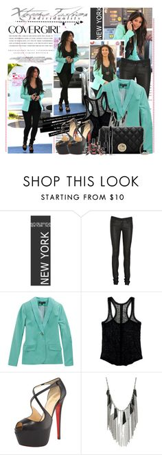 """Get the look - Kim Kardashian"" by misslcb ❤ liked on Polyvore featuring Jennifer Lopez, Ferrari, Kerr®, COVERGIRL, Helmut Lang, Elizabeth and James, Madewell, Christian Louboutin, Wet Seal and Kate Spade"