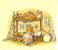 Bedtime at Mouse house, By Jill Barklem.