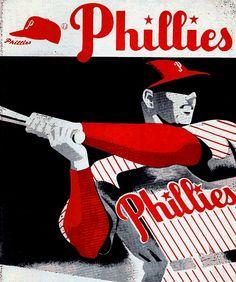 Vintage Phillies baseball player art