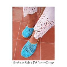 The basic crochet slippers with raffia crochet-soles attached!