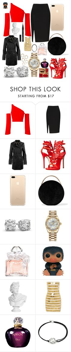 """""""Special Day"""" by phiwiplife ❤ liked on Polyvore featuring Thierry Mugler, Burberry, Giuseppe Zanotti, Eddie Borgo, Rolex, Guerlain, Funko, Balmain, Christian Dior and Alex and Ani"""