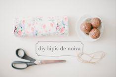 chocolate   tecido – DIY Lápis de Noiva