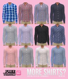 Sims 4 CC's - The Best: Shirts for Men by Freethrow