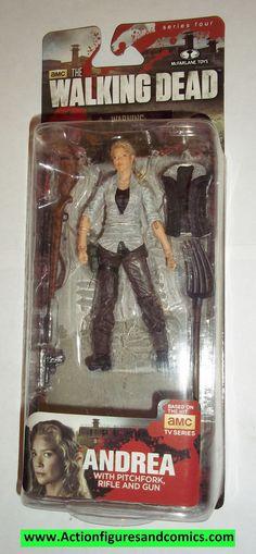 The Walking Dead ANDREA series four 4 2014 mcfarlane toys moc mip