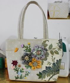 Handmade Embroidery Bag Shoulder bag  1602 by Mingxiastore on Etsy