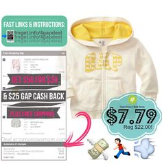 HUGE SAVINGS!!! At Gap. Pick up over $50 retail of items for only $30ish depending on what you add to cart. Some of the Top deals are Organic Cotton PJs are 15% Off Baby Gap logo sweaters are $7.79 after discount (boy and girl colors available) . . Plus you get a $25 Gap cash to use in December for any purchase of $50! This will be great for the late shoppers. Grab your deal by following the easy instructions on Tomorrowsmom.com  tmget.info/4gapdeal  follow the link in my Bio @Tomorrowsmom…