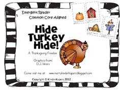 Hide Turkey Hide...Thanksgiving positional words.  freebie