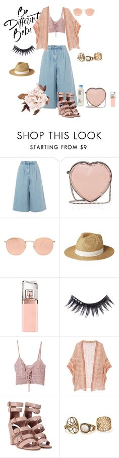 """""""Be different Babe"""" by cosova ❤ liked on Polyvore featuring Edit, STELLA McCARTNEY, Ray-Ban, Lipsy, HUGO, Manic Panic, Jens Pirate Booty, Mes Demoiselles... and Laurence Dacade"""