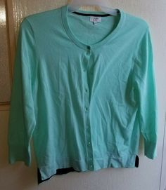 a92d7434da1a Crown And Ivy Women s Cardigan sweater Mint Green size XL  fashion  clothing   shoes