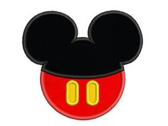 Mickey Mouse Head Applique Disney Embroidery