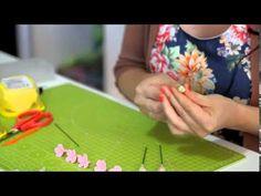 Nadya Gücüm Goodwin Sanat Kili Dal ve Üzerine Çiçek Yapımı - YouTube