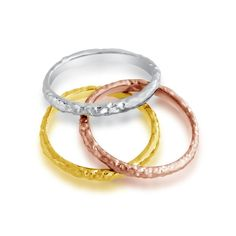 Tri-Color Stackable Thin Textured Fashion Ring >>> More details @ http://www.amazon.com/gp/product/B015JQLUD0/?tag=finejewelry4u.com-20&pkl=050716075355