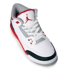 Womens Air Jordan 3 Retro 398614-120 Sneakers — Womens Shoes at CrookedTongues.com