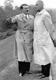 Hitler with Frick in October, 1933. (via putschgirl)