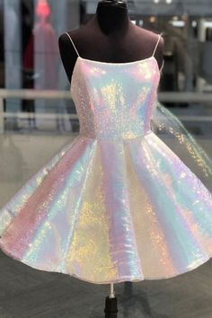 homecoming dresses short Shinny Spaghetti Straps Short Homecoming Dresses, Unique Freshman Homecoming Dresses, The Homecoming Dressesarefully bones in the bodice Freshman Homecoming Dresses, Unique Homecoming Dresses, Cheap Prom Dresses Online, Prom Outfits, Hoco Dresses, Cheap Dresses, Unique Dresses Short, School Dance Dresses, Party Gowns