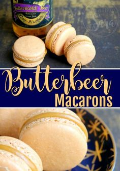 Butterbeer Macarons Recipe for Harry Potter Fans Are you a Harry Potter fan? Do you love all things Butterbeer? You'll LOVE this for must-try Butterbeer Macarons! Harry Potter Desserts, Harry Potter Food, Harry Potter Baking Recipes, Harry Potter Butterbeer, Harry Potter Treats, Just Desserts, Delicious Desserts, Yummy Food, Harry Potter Francais