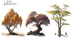 Study - Tree, Maxime BiBi on ArtStation at https://www.artstation.com/artwork/WP583