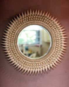 Sea shell mirror - great DIY project for decorating on a dime!