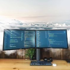 I got my head in the cloud lol but it's not so bad! It's very peaceful and calm so you can stay focused and work! Haha Whats your caption for this pic? #captioncontest #contest #cloud #clouds #heaven #sky #love #beauty #calm #peaceful ~ ~ ~ ~ ~ ~ #coding #code #coder #programming #webdev #webdeveloper #webdevelopment #developer #computers #laptop #computersetup #screens #workspace #designer #design #webdesign #clean #minimal