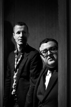 Alber Elbaz and Lucas Ossendrijver at Lanvin. Photography by James Bort