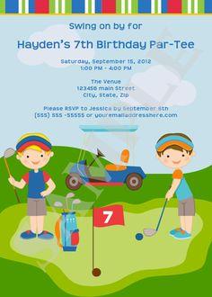 Golf birthday party invitation for kids pinterest party golf birthday party invitation for kids pinterest party invitations golf and birthdays filmwisefo