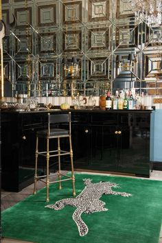 In Love with this mirrored Bar space - Diane Von Furstenberg