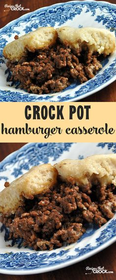 Crock Pot Hamburger Casserole is a tried and true family favorite!This Crock Pot Hamburger Casserole is a tried and true family favorite! Hamburger Crockpot Recipes, Hamburger Casserole, Crockpot Dishes, Beef Dishes, Ground Beef Recipes, Casserole Recipes, Chicken Casserole, Chicken Recipes, Beef Meals