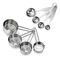 New Star Foodservice 42917 Stainless Steel Measuring Spoons and Measuring Cups Combo, Set of 8 Brown Sugar Glaze, Cheap Christmas Gifts, Diy Christmas, Christmas Goodies, Homemade Christmas, Diy Gift Baskets, Cupping Set, Food Service, Measuring Spoons