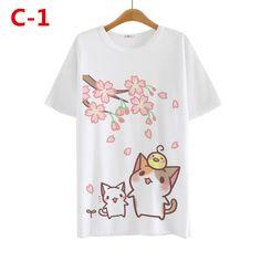 Cute kawaii cartoon cat T-shirt