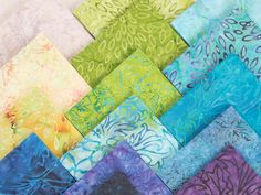 RJR Malam Batiks by Jinny Beyer Pistachio Precut Fabric - None