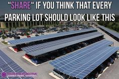 Not only does the parking lot's roof top provide shade from the sun but also #SolarPower #Sustainability