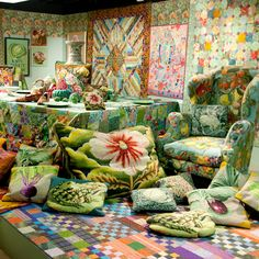 Kaffe Fassett has been producing colourful, richly patterned designs for 50 years. Today, his exhibition Kaffe Fassett: A Life In Colour opens at the FTM in London