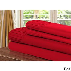 Luxury Home Collection 4-piece Pleated Sheet Set