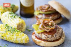 BBQ Pork Burgers with Crispy Onions made easy. Discover Goodfood's BBQ Pork Burgers with Crispy Onions meal kit delivery featuring farm-fresh ingredients. Spicy Pickles, Homemade Pickles, Pizza Hamburger, Pickle Pizza Recipe, Charcuterie, Pickled Garlic, Buttered Corn, Pork Burgers, Burger Toppings