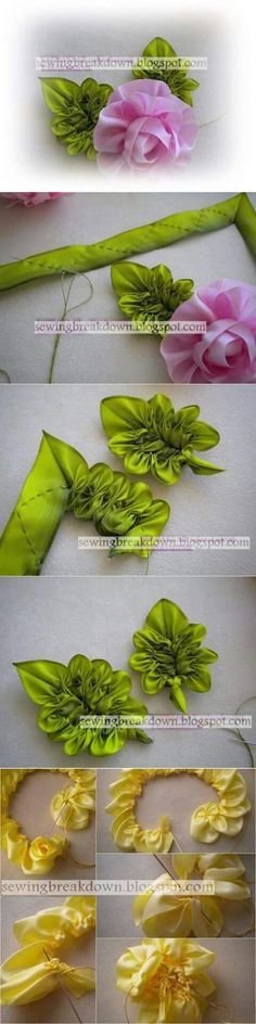 ruffled ribbon leaf