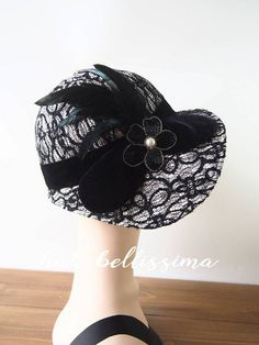 618ea6b7db92cf 1920's Hat Vintage Style hat winter Hats hatbellissima ladies hats  millinery hats cloche Hats