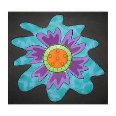 Blue and Purple Wall Art Flower by Tra Art Studio Purple Wall Art, Orange Wall Art, Purple Walls, Mirror Wall Art, Tree Wall Art, Fish Wall Art, New Blue, Whimsical Art, Wall Sculptures