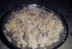 Majonézes rizssaláta Oatmeal, Breakfast, Food, The Oatmeal, Morning Coffee, Rolled Oats, Essen, Meals, Yemek