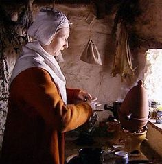 """""Ruth Goodman in ""Tales from the Green Valley"""""" Apothecary set up that I want."