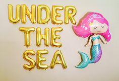 UNDER THE SEA, Mermaid Balloon, Mermaid Party,  Under the Sea Theme,  Mermaid Decorations, Mermaid, Mermaid Party Decor, Mermaid Birthday
