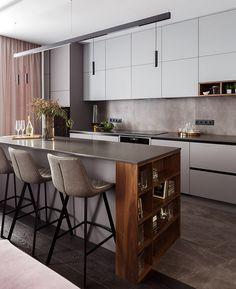 Kitchen Room Design, Kitchen Dinning, Home Room Design, Modern Kitchen Design, Home Decor Kitchen, Kitchen Furniture, New Kitchen, Modern Kitchen Renovation, Modern Kitchen Interiors