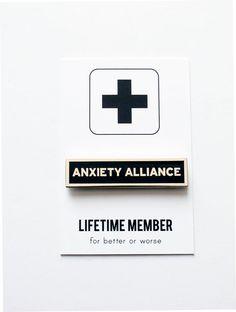 Angst Allianz Anstecknadel Emaille von wordforwordfactory auf Etsy