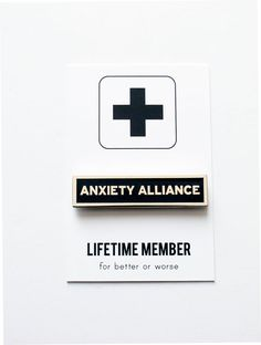 ANXIETY ALLIANCE™ SOCIAL ALERT PIN Artist designed enamel pins for common physical & psychological situations JOIN THE CLUB! And dont