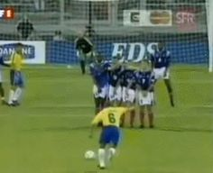 Image result for Roberto Carlos impossible goal gif (Defying the laws of physics ? Yeah OK no problem for Roberto Carlos ) ⚽️