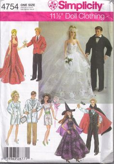 barbie+sewing+patterns | Barbie Ken Doll Clothes Wedding Sewing Pattern by PeoplePackages