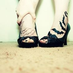 Cute Tattoos Designs for Girls...look at these bats!!